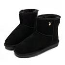 PLAYBOY 初雪夢境 簡約百搭短筒雪靴-黑