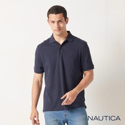 Nautica經典純棉短袖POLO衫-深藍