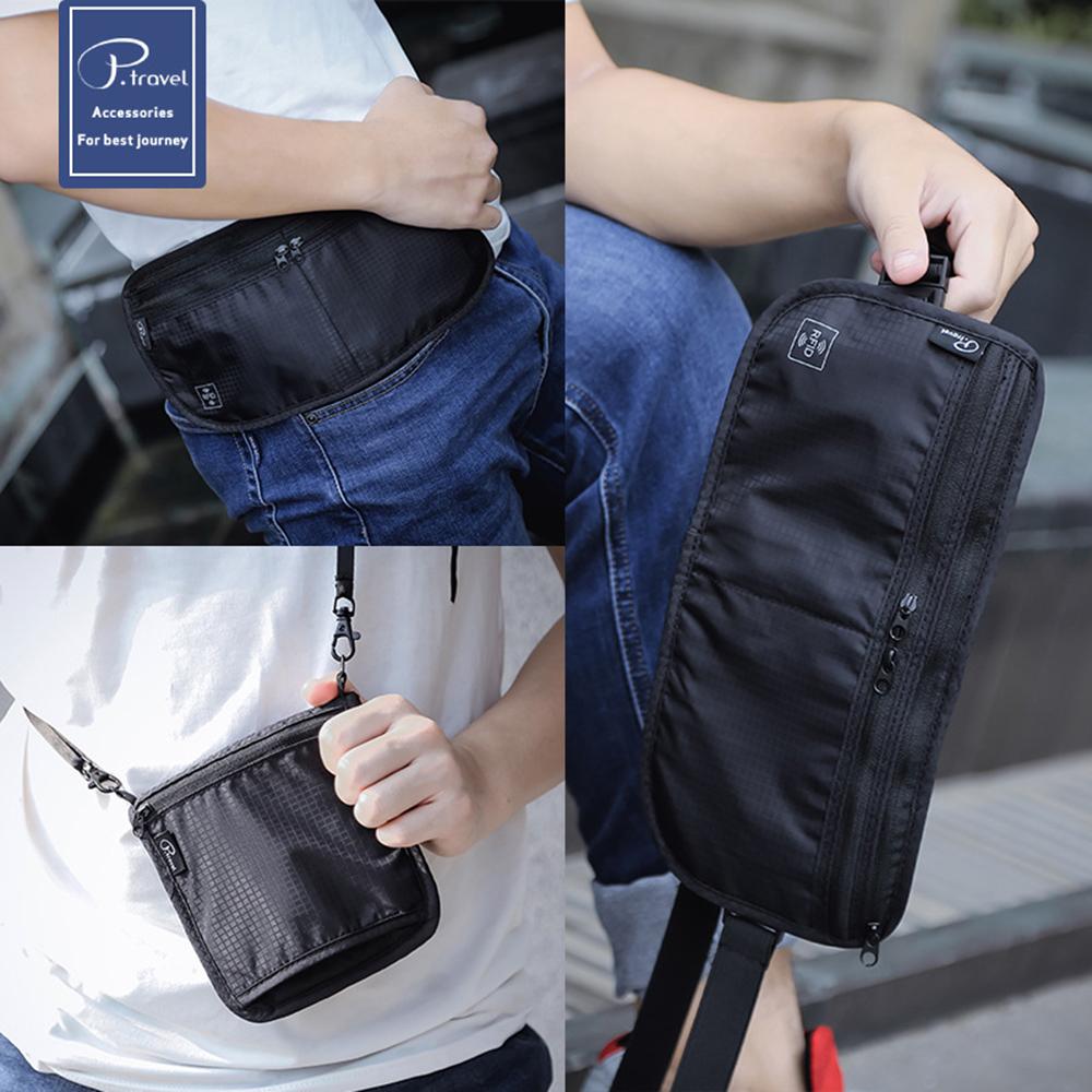 RFID防盜證件收納包 隱形貼身腰包 護照收納 防搶包