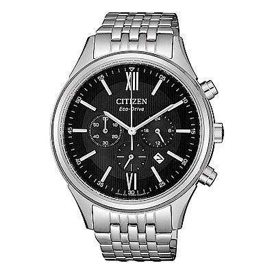 CITIZEN 星辰亞洲限定款光動能三眼計時腕錶-銀(CA4410-84E)