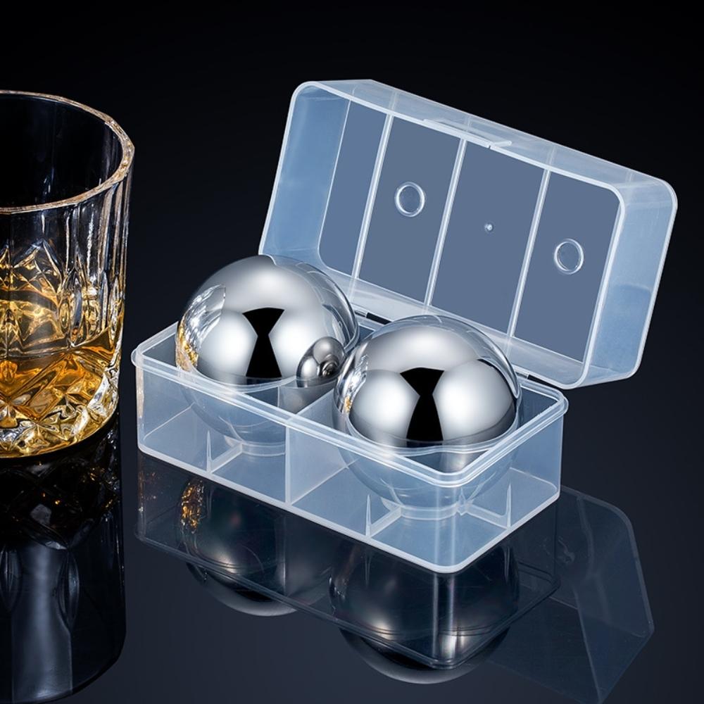 [荷生活]304不鏽鋼圓形冰球 冰酒石-兩顆裝