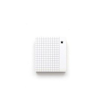 GMZ 粉彩方塊酥索引式便利貼-05方格黑星