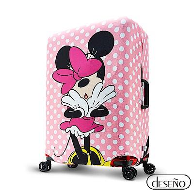 Disney迪士尼 MINNIE彈性箱套-粉嫩泡泡L號