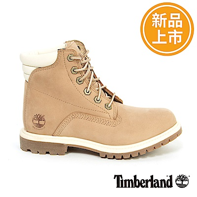 Timberland 女款米色防水戶外6吋靴