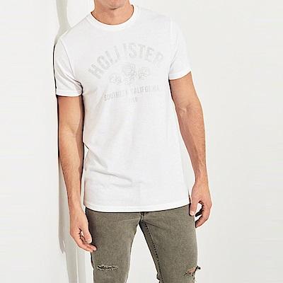 HCO Hollister 海鷗 經典印刷文字圖案短袖T恤-白色