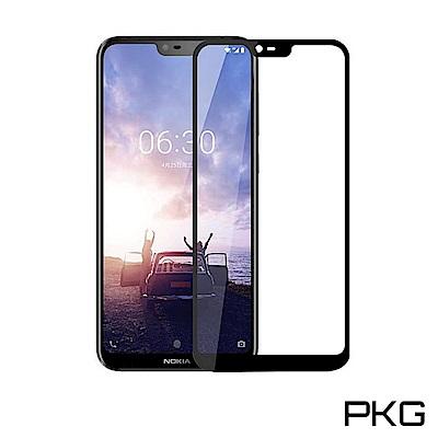 PKG Nokia 6.1 Plus 保護貼-全滿版玻璃(黑框)