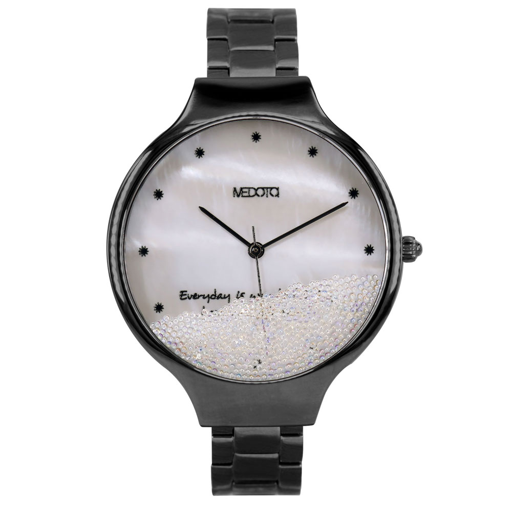 MEDOTA Ladies系列流沙雙層殼不鏽鋼錶帶女錶 / MI-9503