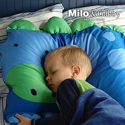 Milo&Gabby 動物好朋友-超細纖維防蹣大枕心+枕套組(DYLAN恐龍)