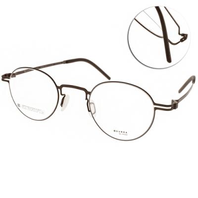 VYCOZ眼鏡 DURRA系列 薄鋼經典圓框款 /棕 #DR9004 BRN
