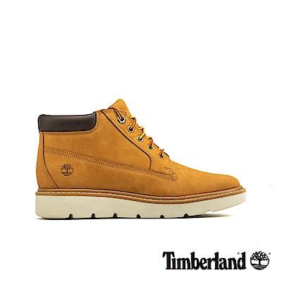 Timberland 女款小麥黃彈性支撐皮革低筒靴   A1GO4231