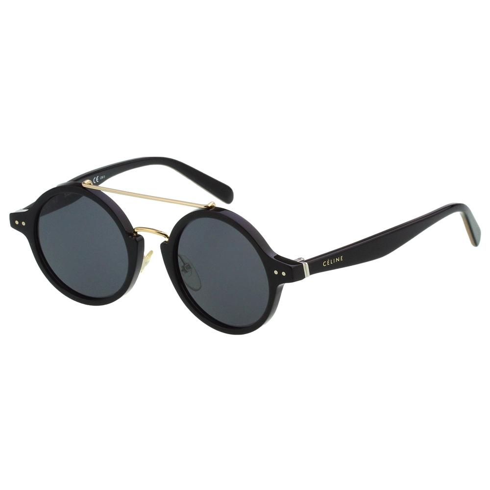 CELINE 復古圓框 太陽眼鏡(黑色)CL41442FS