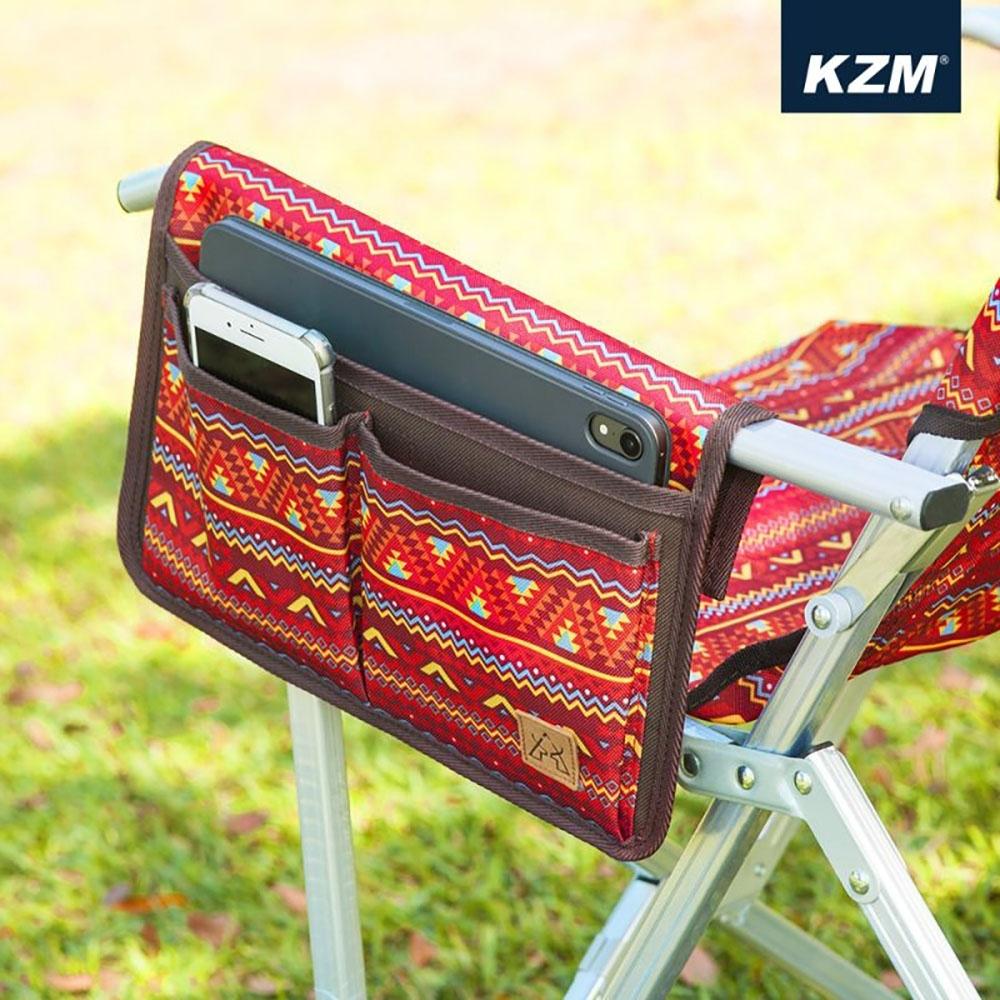 KAZMI KZM 經典民族風椅側置物袋(紅色)