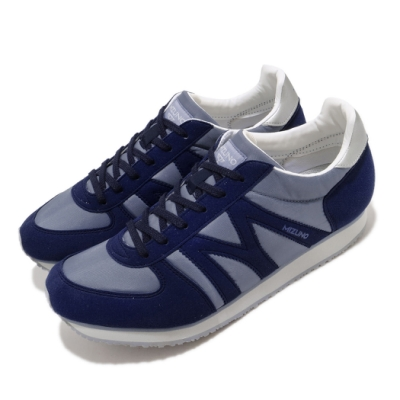 Mizuno 休閒鞋 MR1 復古 低筒 男鞋 美津濃 M-line 穿搭 基本款 藍 D1GA196018