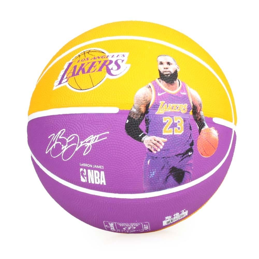 SPALDING 湖人-詹姆士 LeBron 籃球 #SPA83848 黃紫