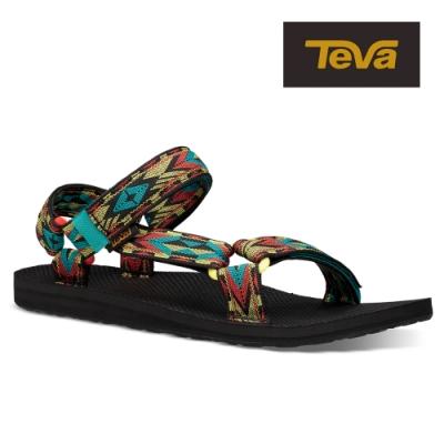 TEVA 原廠貨 男 Original Universal 經典緹花織帶涼鞋/雨鞋/水鞋-雙極光鑽