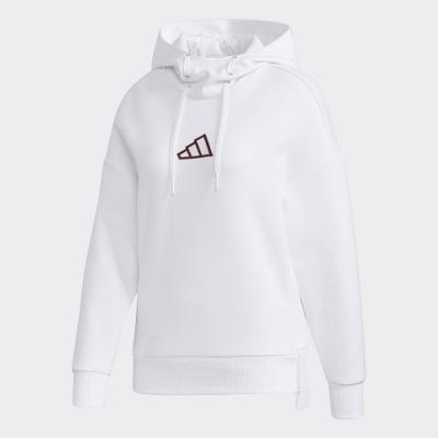 adidas 連帽上衣 帽T 休閒 運動 女款 白 GM1411 URBAN HOOD SWT