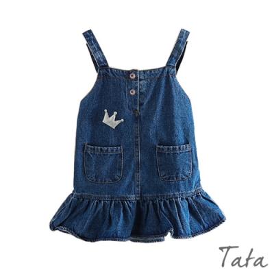 童裝 皇冠荷葉裙擺牛仔洋裝 TATA KIDS