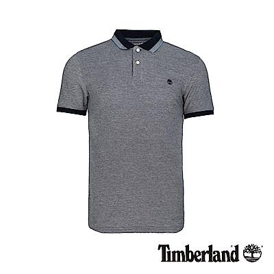 Timberland 男款深寶石藍輕薄款修身短袖POLO衫|A1XCR