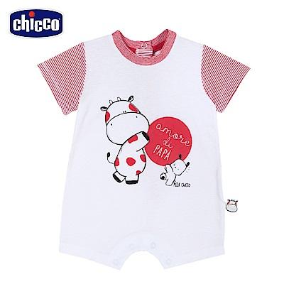 chicco-小乳牛-papa短袖兔裝