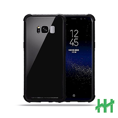 9H鋼化玻璃手機殼系列 Samsung Galaxy S8 (5.8吋) (黑色)