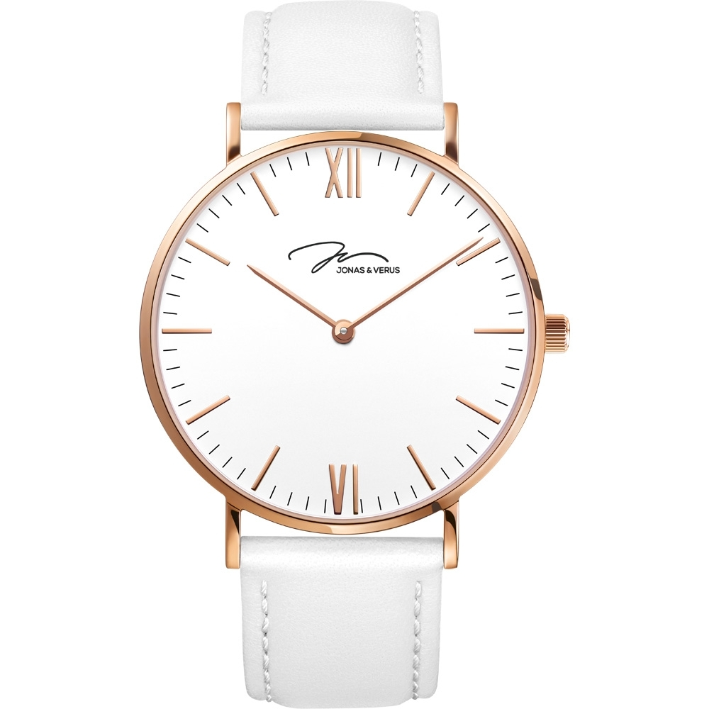 J&V 簡尚系列皮帶腕錶36mm(X01646-Q3.PPWLW)