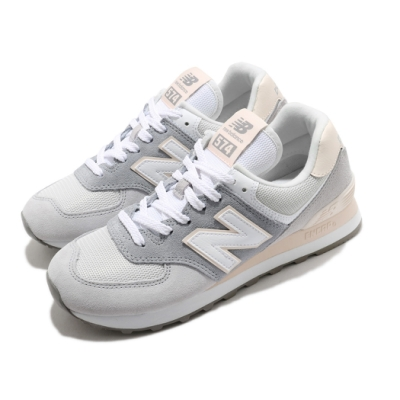 New Balance 休閒鞋 574 女鞋 紐巴倫 簡約 麂皮 舒適 穿搭 灰 白 WL574LBRB