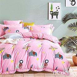 BEDDING-3M專利+頂級天絲-兒童專用涼被枕頭組-不正經的猴子