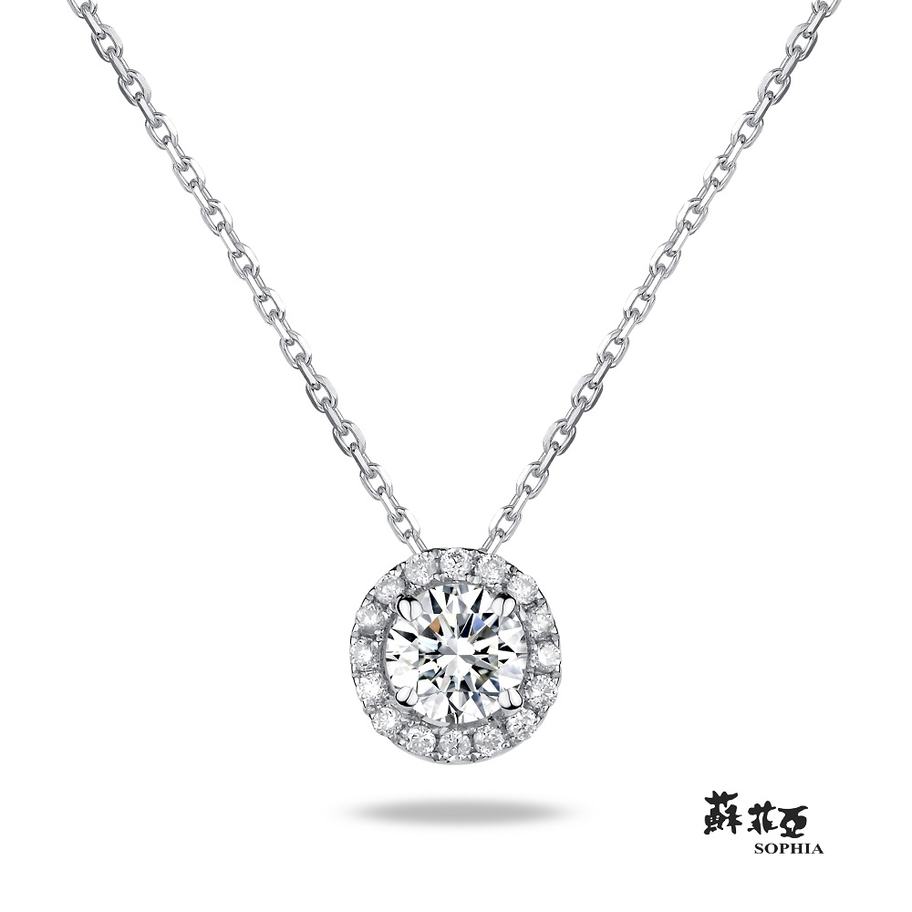 SOPHIA 蘇菲亞珠寶 - 愛伊蕾拉 10分 18K白金 鑽石項鍊