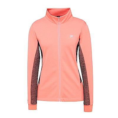 FILA 女款針織外套-粉紅 5JKS-5318-PK