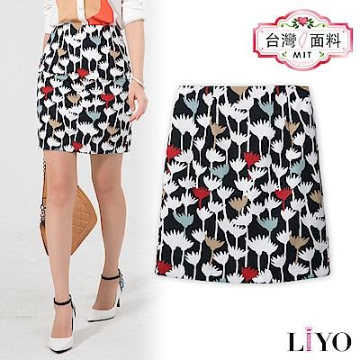 LIYO理優MIT印花修身窄裙E723007
