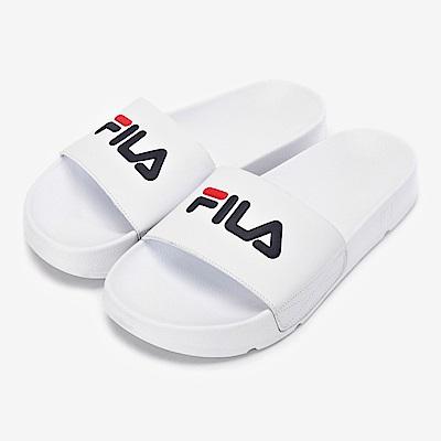 FILA中性款拖鞋-白 4-S633S-125