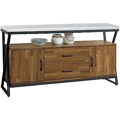 綠活居 奧帕迪時尚5尺雲紋石面餐櫃/收納櫃-150x40x82cm免組