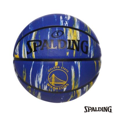 SPALDING 斯伯丁 NBA 隊徽球 大理石印花系列-勇士 RUBBER 籃球 7號
