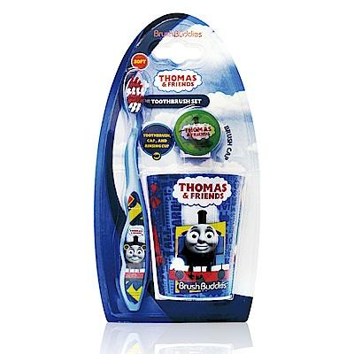 美國熱銷卡通 Thomas&Friends 牙刷漱口杯組(適5歲以上)
