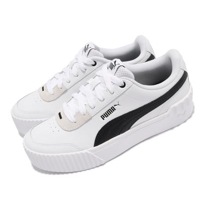 Puma 休閒鞋 Carina Lift 復古 厚底 女鞋 微增高 穿搭推薦 皮革鞋面 基本款 百搭 白 黑 37303102