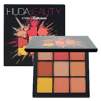 Huda Beauty 痴迷系列 9色眼影盤 #Coral 10g