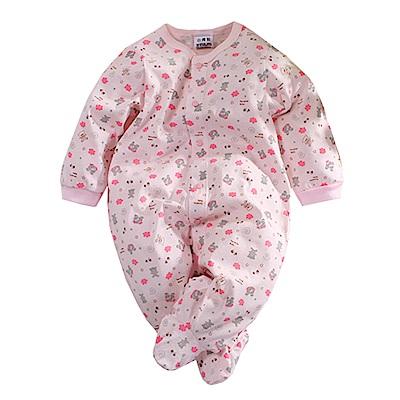 印花薄長袖包腳連身衣 k60677 魔法Baby