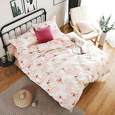 夢工場 歌詠詩意60支紗埃及棉床包兩用被組-雙人
