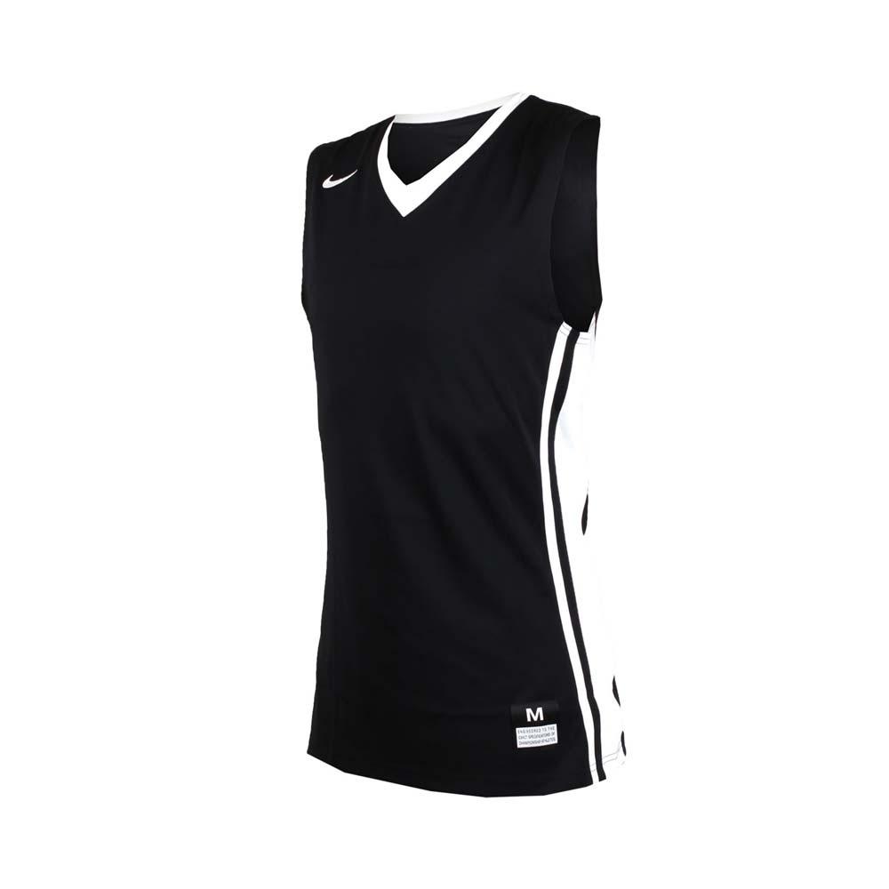 NIKE 男V領籃球針織背心-無袖背心 運動背心 球衣 黑白