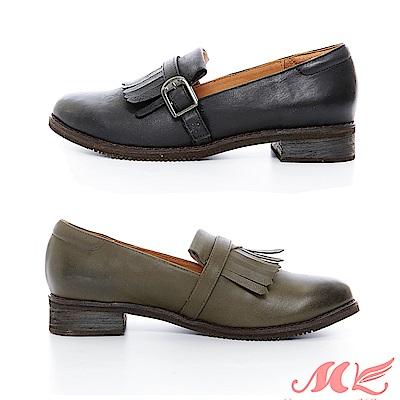 MK 英倫風特殊質感樂福鞋 2色