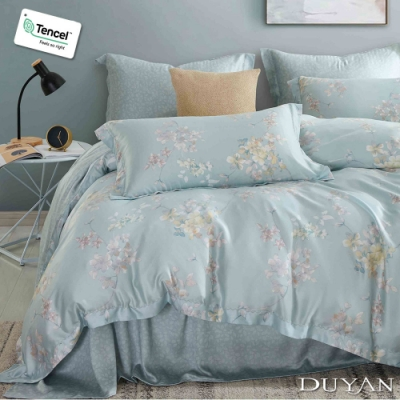 DUYAN竹漾-100%頂級萊塞爾天絲-單人床包枕套二件組-微漾霓晶