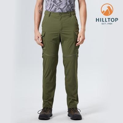 【hilltop山頂鳥】男款超潑水抗UV彈性二截褲S08M23綠