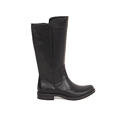 Timberland 女款黑色皮革Magby高筒靴   A1KGY001