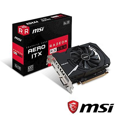 MSI微星 Radeon RX 550 AERO ITX 4G OC 顯示卡