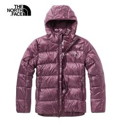 The North Face北面女款紫紅色保暖防潑水戶外羽絨外套|3VT3HBM