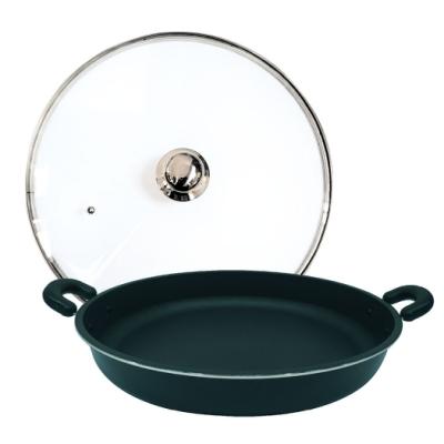 派樂 遠紅外線料理盤超大煎烤盤40cm含玻璃鍋蓋