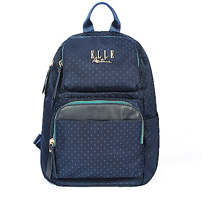 ELLE Active 自由展翼系列-防盜 後背包-中-藍色