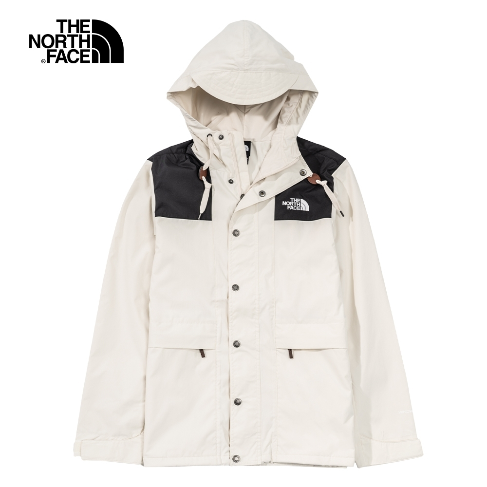 The North Face北面男女款米白色防潑水防風外套 4NB211P