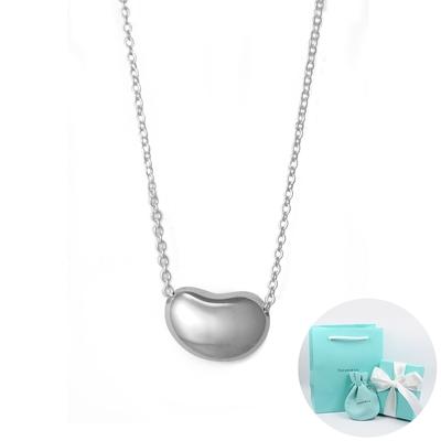 (福利品B)Tiffany&Co. Elsa Peretti 經典優雅相思豆純銀項鍊