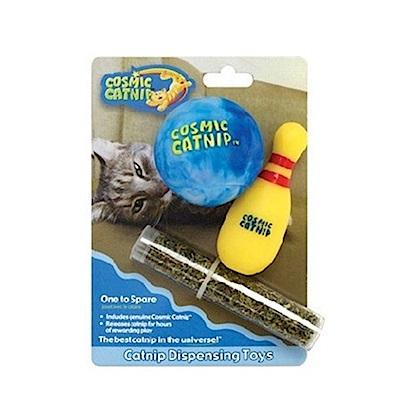 100%天然可填充橡膠貓草玩具 - 保齡球組